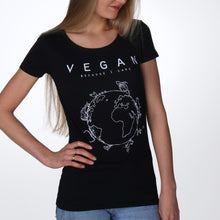Vegan T-shirt voor dames zwart - By Monkey