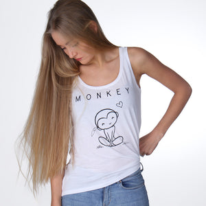 Vegan tencel monkey shirt aapje dames - By Monkey