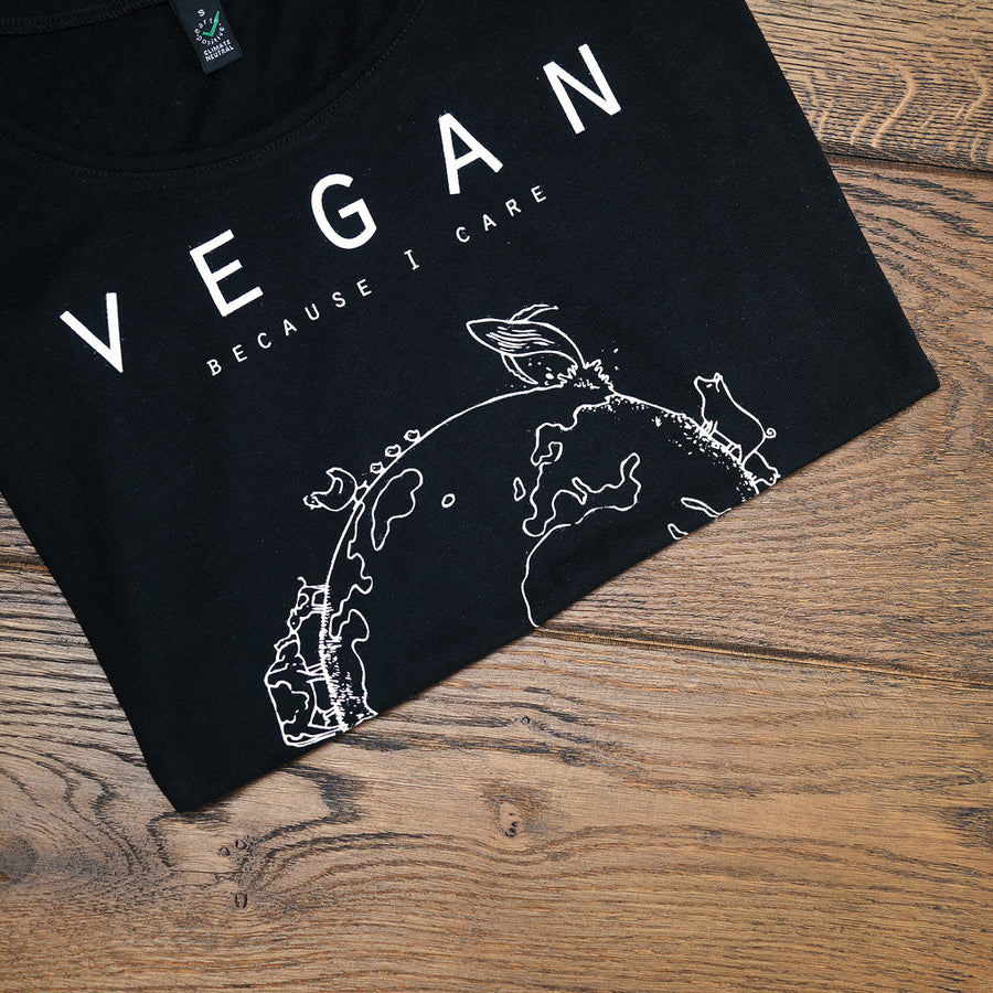 Vegan for the planet - Shirt vrouwen zwart - By Monkey