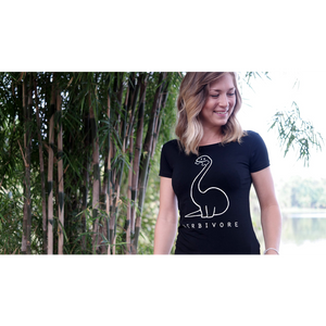 Herbivore T-shirt zwart - Vegan T-shirts made By Monkey