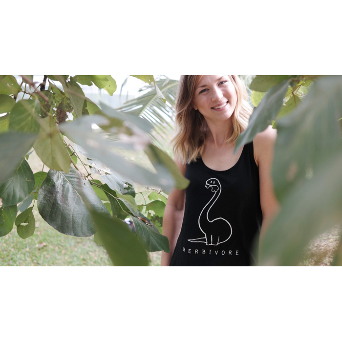 Herbivore shirt top women black - Vegan shirts, ethically made By Monkey