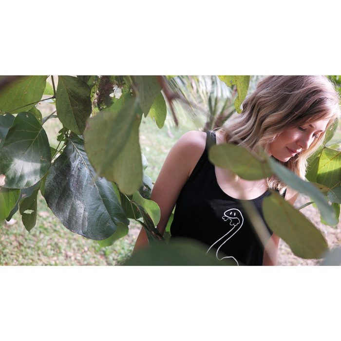 Vegan herbivore top women black - Vegan shirts, ethically made By Monkey