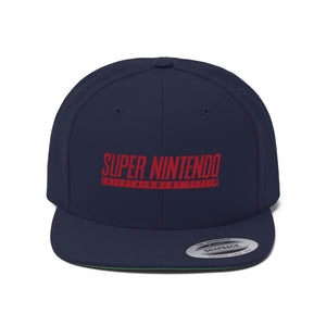 Retro Super Nintendo Logo Unisex Flat Bill Hat