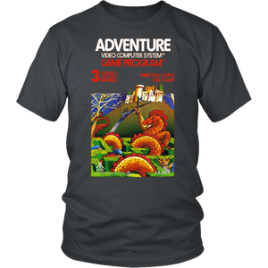 Adventure Atari 2600 Retro Vintage Video Game Box Art Unisex T-Shirt