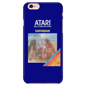 Defender Atari 2600 Retro Vintage Video Game Box Art iPhone (5,6,7) Protective Case