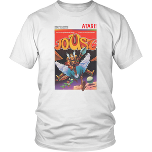Joust Atari 2600 Retro Vintage Video Game Box Art Unisex T-Shirt