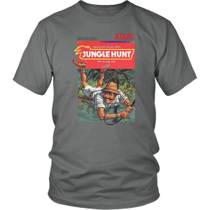 Jungle Hunt Atari 2600 Retro Vintage Video Game Box Art T-Shirt