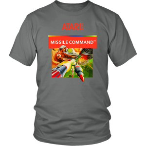 Missile Command Atari 2600 Vintage Retro Video Game Box Art Unisex T-Shirt