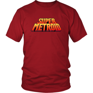 Super Metroid Super Nintendo SNES Vintage Retro Video Game Box Art Unisex T-Shirt