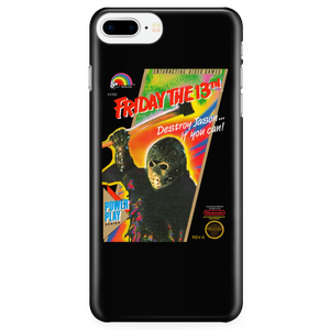Friday the 13th Jason Voorhees Nintendo Retro Vintage Video Game Box Art iPhone (5,6,7) Protective Case