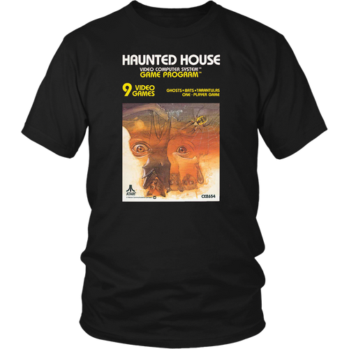 Haunted House Atari 2600 Retro Video Game Box Cover Art Unisex T-Shirt