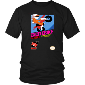 Excitebike Nintendo NES Retro 80s Vintage Video Game Box Art Unisex T-Shirt
