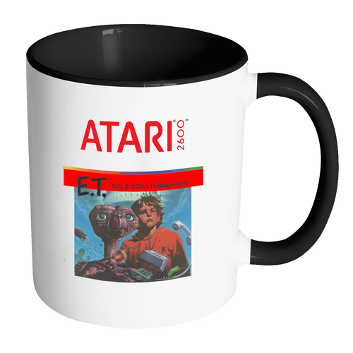 E.T. The Extra Terrestrial Atari Retro Video Game Box Art Accented Coffee Mug