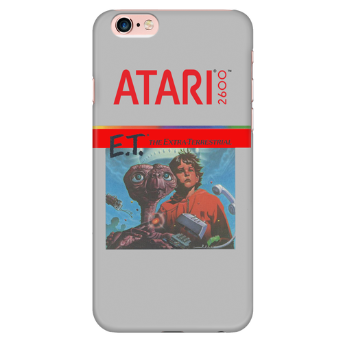 E.T. the Extra-Terrestrial Atari 2600 Retro Vintage Video Game Box Art iPhone (5,6,7) Case