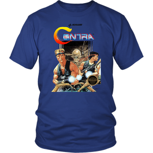 Contra Retro Vintage 80s NES Video Game Box Art Unisex T-Shirt