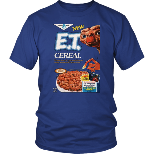 E.T. Retro 80s Breakfast Cereal Box Art Unisex T-Shirt