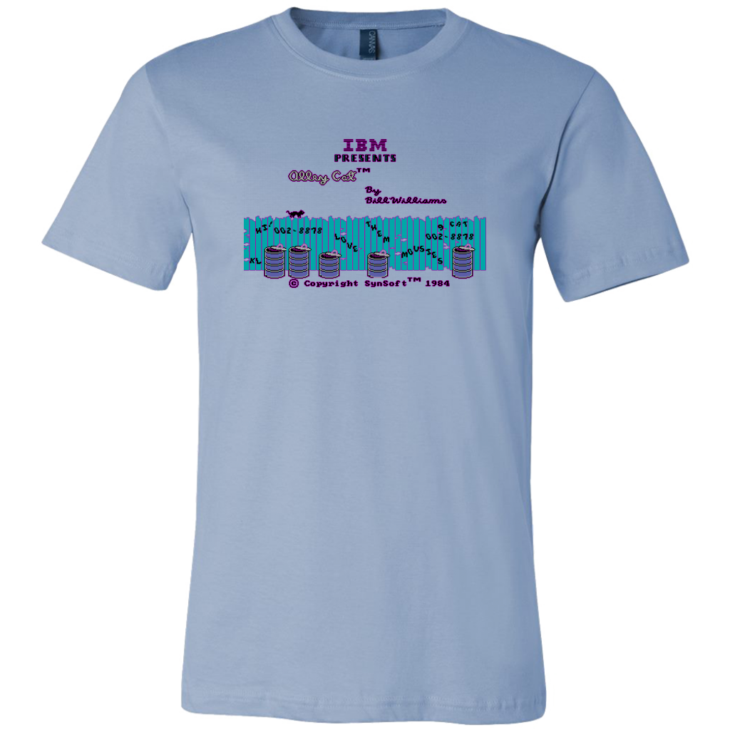 Alley Cat Retro IBM PC Video Game Title Screen Short-Sleeve Unisex T-Shirt