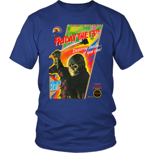 Friday the 13th Jason Voorhees Nintendo Retro Vintage Video Game Box Art Unisex T-Shirt