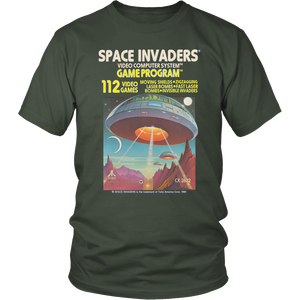 Space Invaders Atari 2600 Retro Vintage Video Game Box Art Unisex T-Shirt