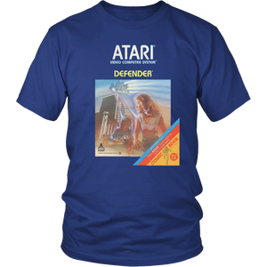 Defender Atari 2600 Retro Vintage Video Game Box Art T-Shirt