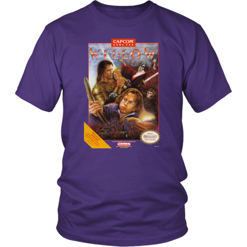 Willow NES Nintendo Retro Vintage Video Game Box Art T-Shirt