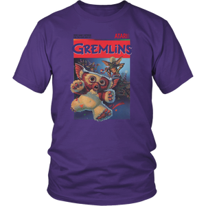 Gremlins Atari 2600 Retro Vintage Video Game Box Art T-Shirt