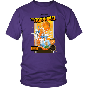 The Goonies II (2) Retro Vintage 80s NES Video Game Box Art Unisex T-Shirt