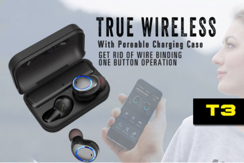 b6a56b1f065 AWEI T3 true wireless earbuds with charging case – Your Gadget Station
