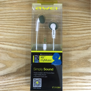 Original Awei ES10M Noise Isolation In-Ear Earphone