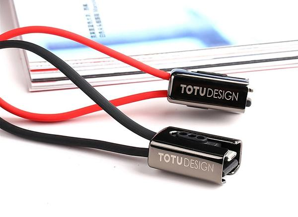TOTU 2 in 1 Mobile Phone Cable For iPhone and Samsung Android