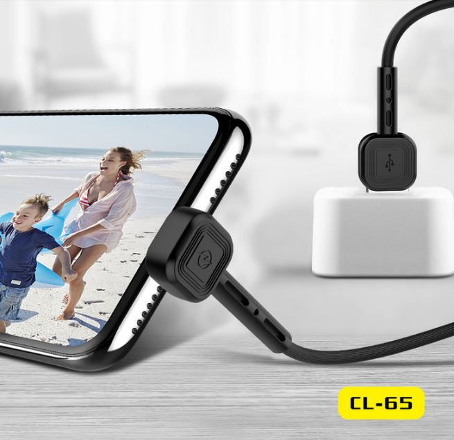 CL-65 Fast Charging Cable & Mobile Phone Holder 2 in 1