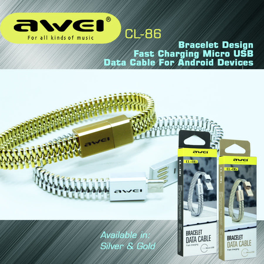 AWEI Bracelet Data Cable