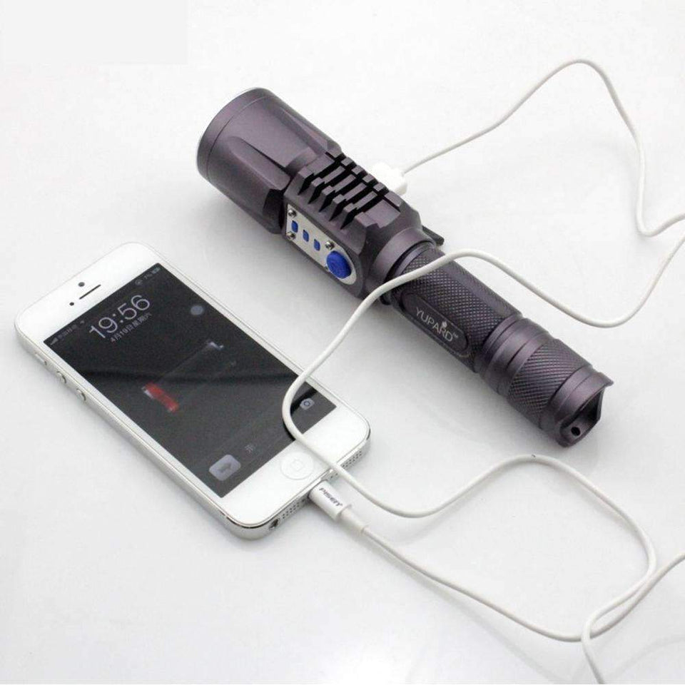 FLASHLIGHT WITH POWER BANK - UNIQUE TORCH WITH MOBILE CHARGER