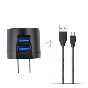 2USB Charger + Fast Data Charge Cable