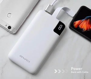 AWEI P67K - Multiple Output Power Bank With Cable