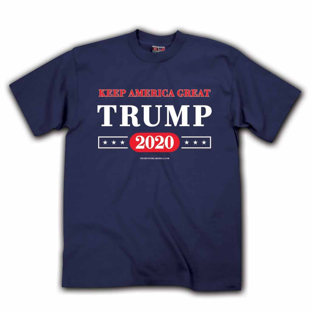 KEEP AMERICA GREAT TRUMP 2020 T-Shirt Navy