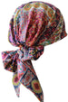 Easy Tie Head scarf (120-Purple Mosaic)