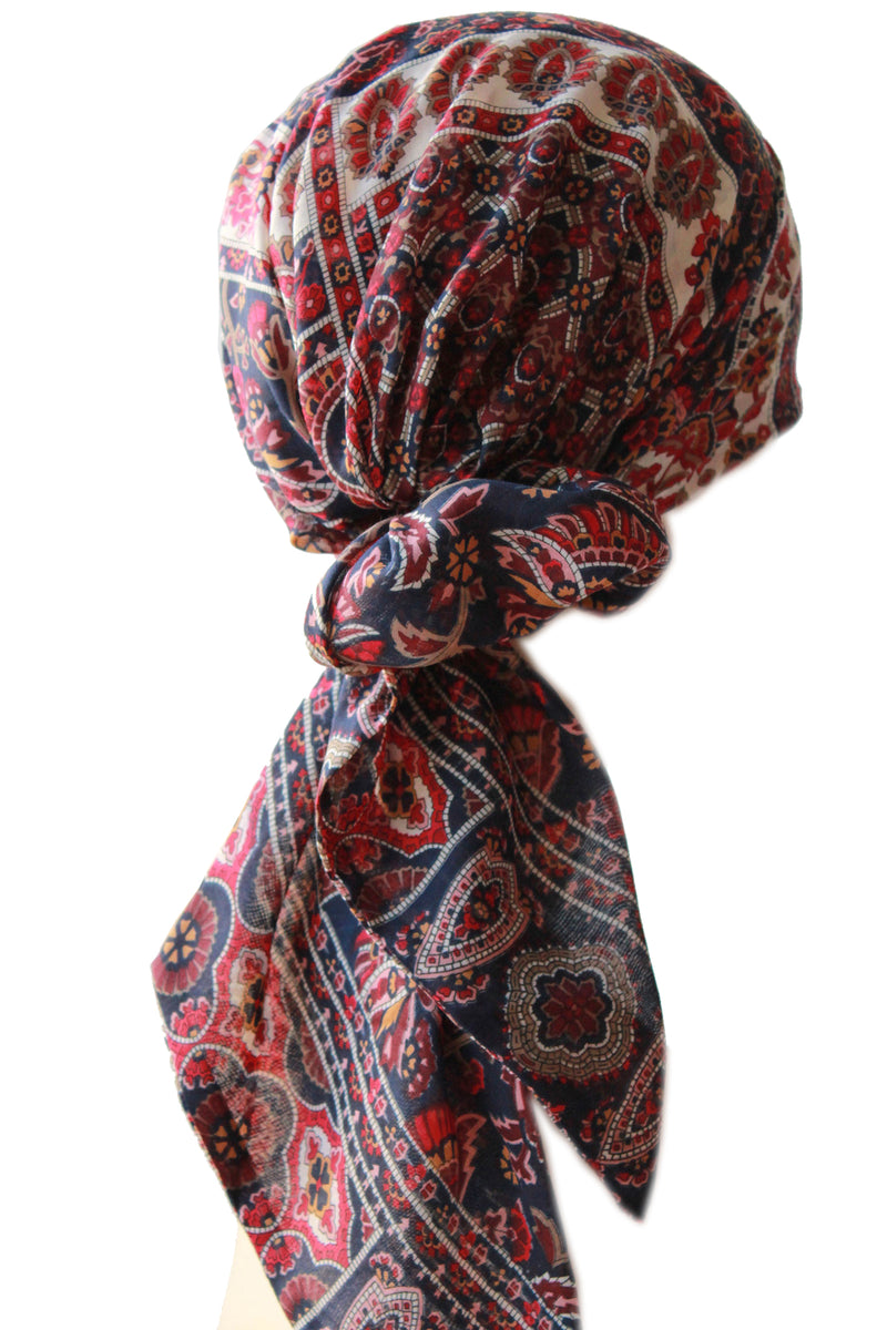 Easy Tie Dye Tips And Step By Step Instructions: Easy Tie Head Scarf (134-Navy Burgundy Mink)