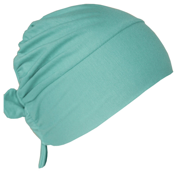 Unisex Tie Back Cotton Cap - Spring Green