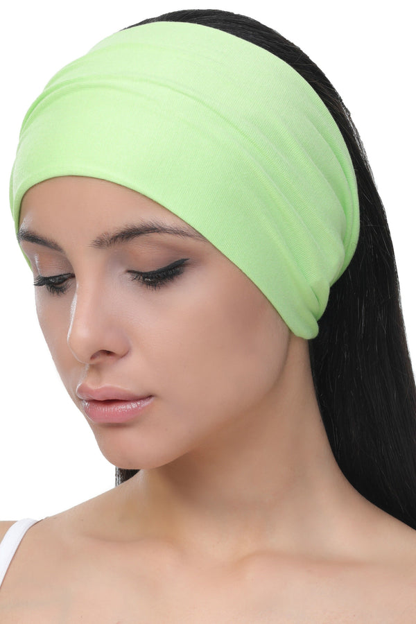 plain deresina headband apple green