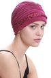 Deresina Braided detail chemo turban azalea