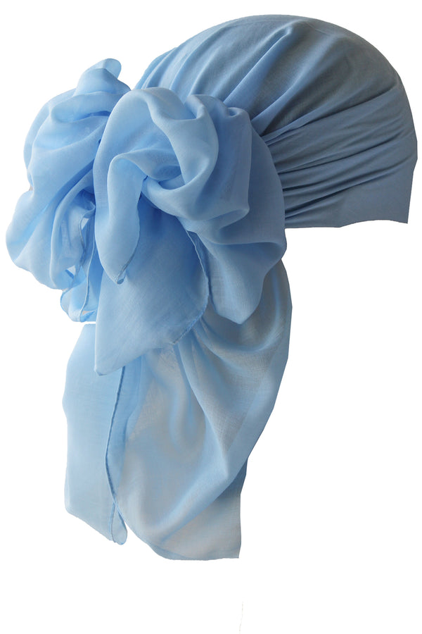 NEW-Plain Square Headscarf- Baby Blue