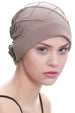 Deresina Diamond patterned hat for chemotherapie beige