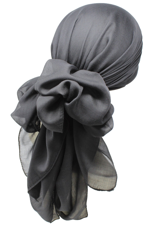 Bamboo Square Scarf - Black