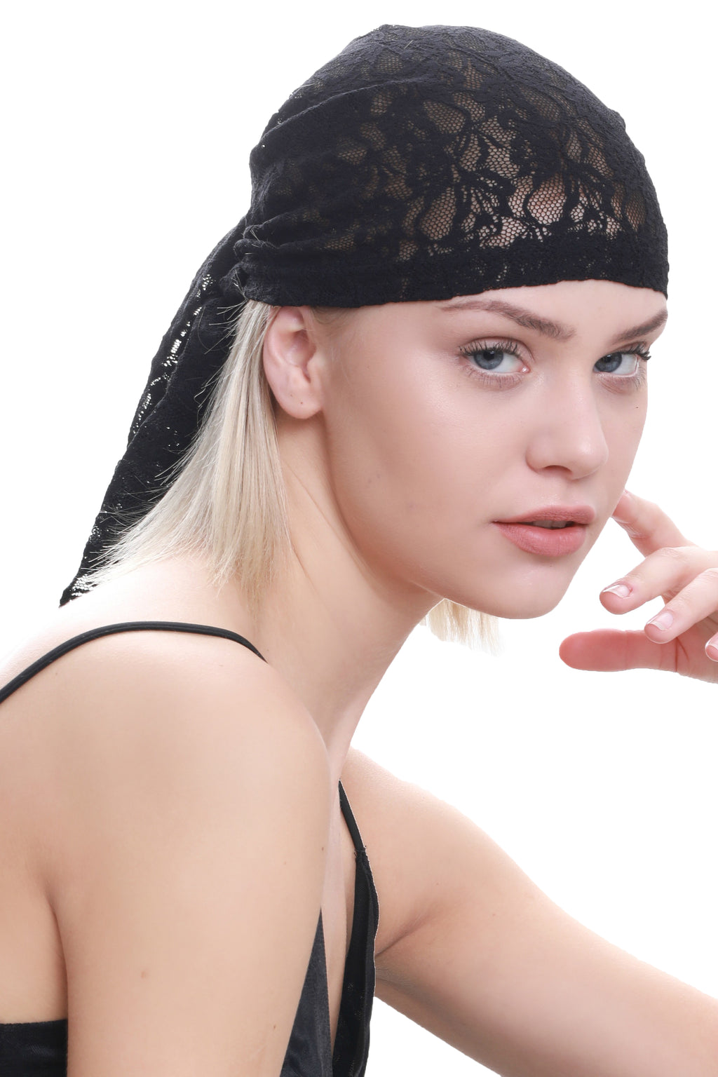 Lace Bandana - Black