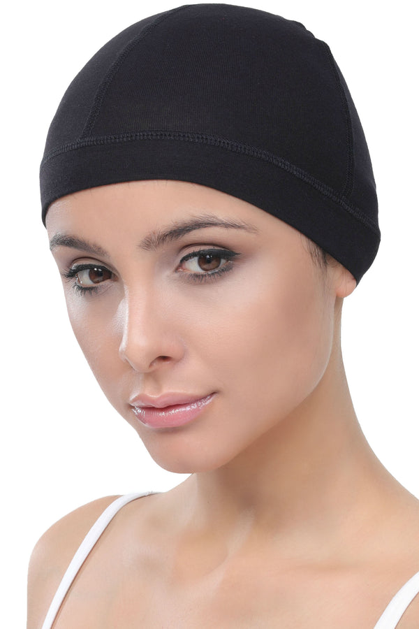 Bamboo Wig Cap - (Black Pack of two)