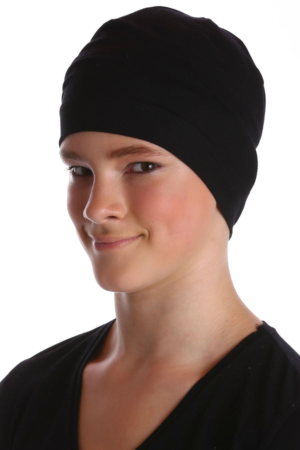 Deresina teen beanie for hairloss black