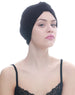Deresina Brocade w turban for chemo black