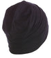 Solid Reversible Beanie for Men - Black