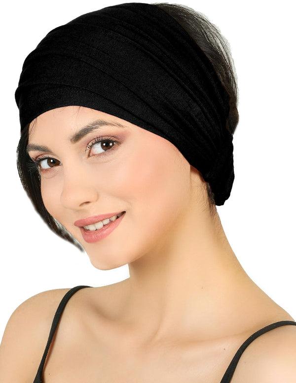 Elasticated Stretchy Headband - Black